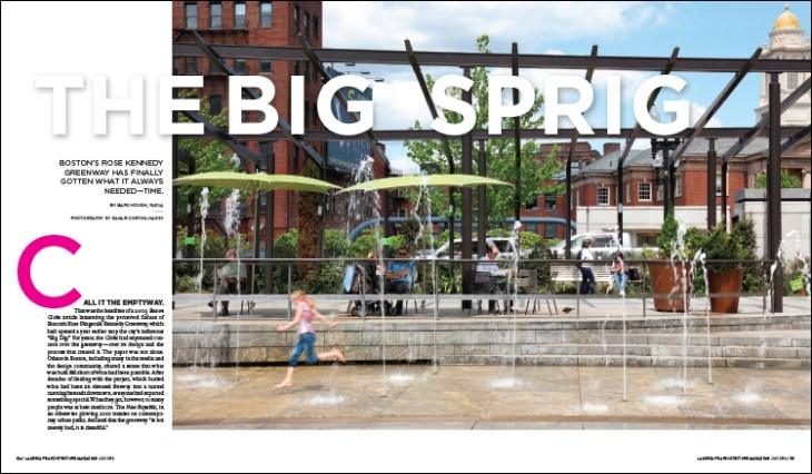 Boston's Rose Kennedy Greenway has finally gotten what it always needed—time.