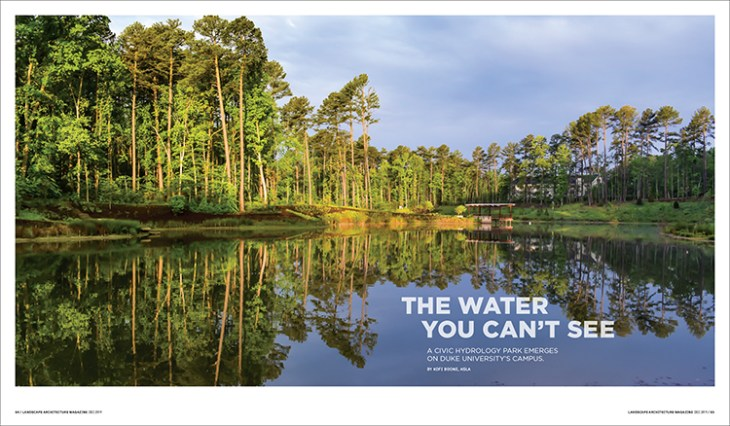The Water You Can T See Landscape Architecture Magazine