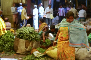Kolkata flower market 4