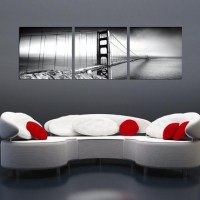 Golden Gate Bridge - Black and White Triptych