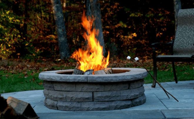 Nantucket Pavers Ledgestone Fire Pit Kit 1