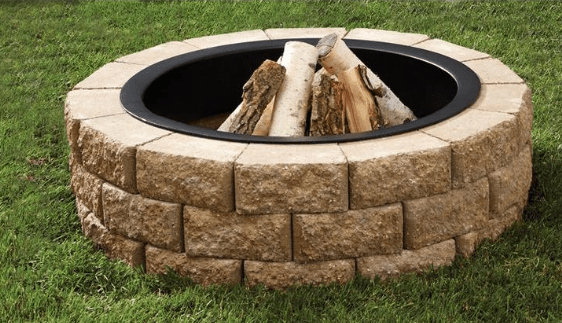 Oldcastle Hudson Stone Round Fire Pit Kit