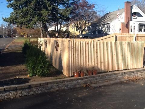 Four foot Cedar fencing