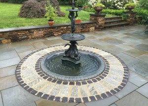 Fountain with Hardscape