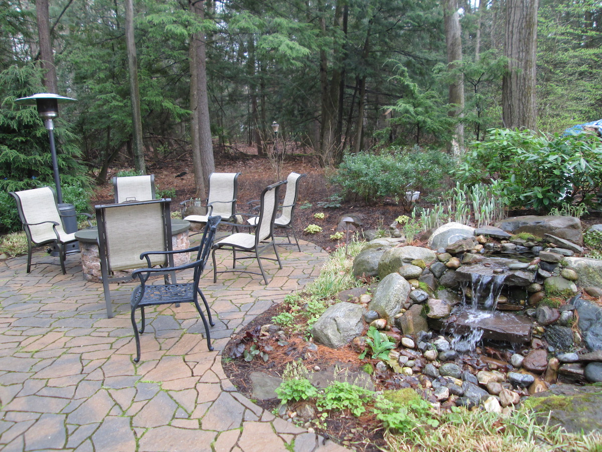 Waterfall and Patio in Avon