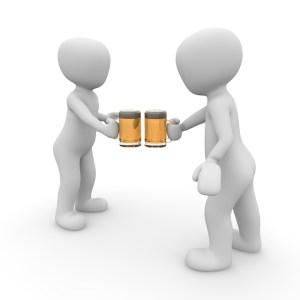 LEJOG - Nutrition - Image of Men Chinking Beer Glasses