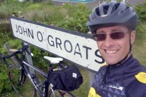 Bike and me at John O'Groats town sign - Lands End to John O'Groats - My End to End