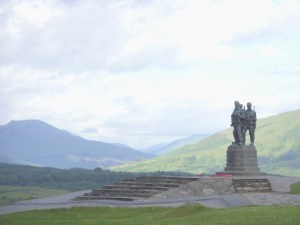 Image of commando memorial - Lands End to John O'Groats - My End to End