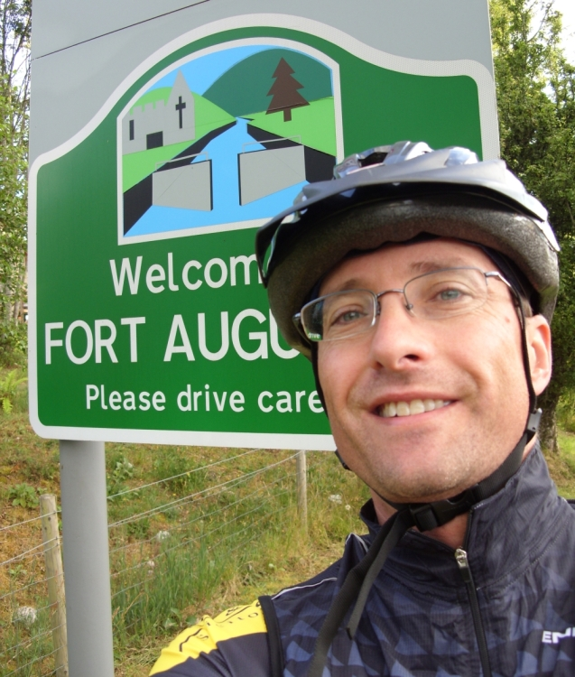 Image of Fort Augustus sign - Lands End to John O'Groats - My End to End