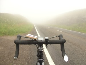 Image of mist on hills - Lands End to John O'Groats - My End to End