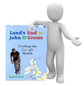 Image of Man Holding LEJOG Book - Google Route