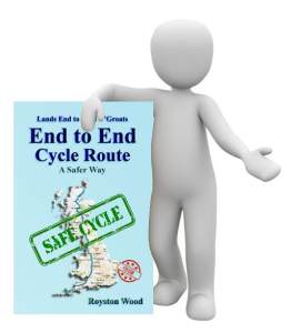 Image of Man Holding Safer Way Guide Book for Lands End to John O'Groats