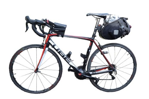 LEJOG What to Take - Bags - Image of Loaded Bike