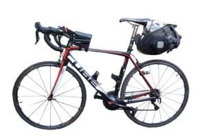 LEJOG What to Take - Bags - Image of Loaded Bike