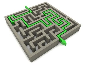 Planning a LEJOG cycle ride image of maze