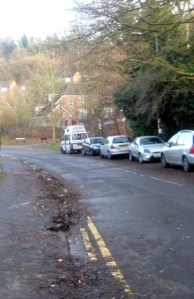 Image of debris in gutter