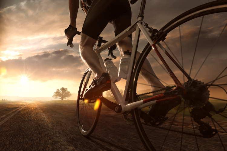 Cyclist Training on Bike