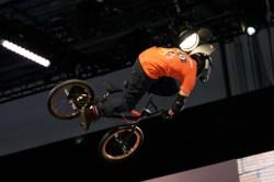 BMX on half pipe