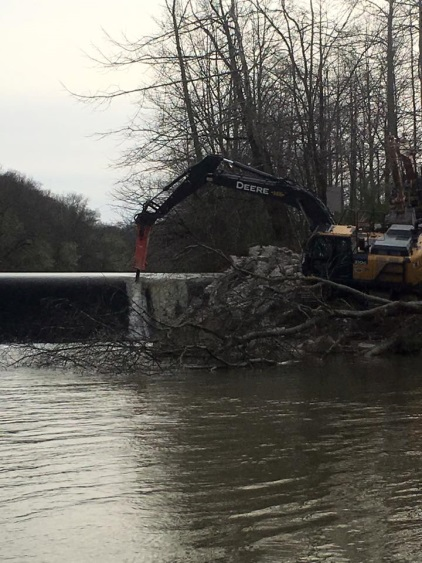 October 28th, final dam removal. (photo credit: Nick Millett)