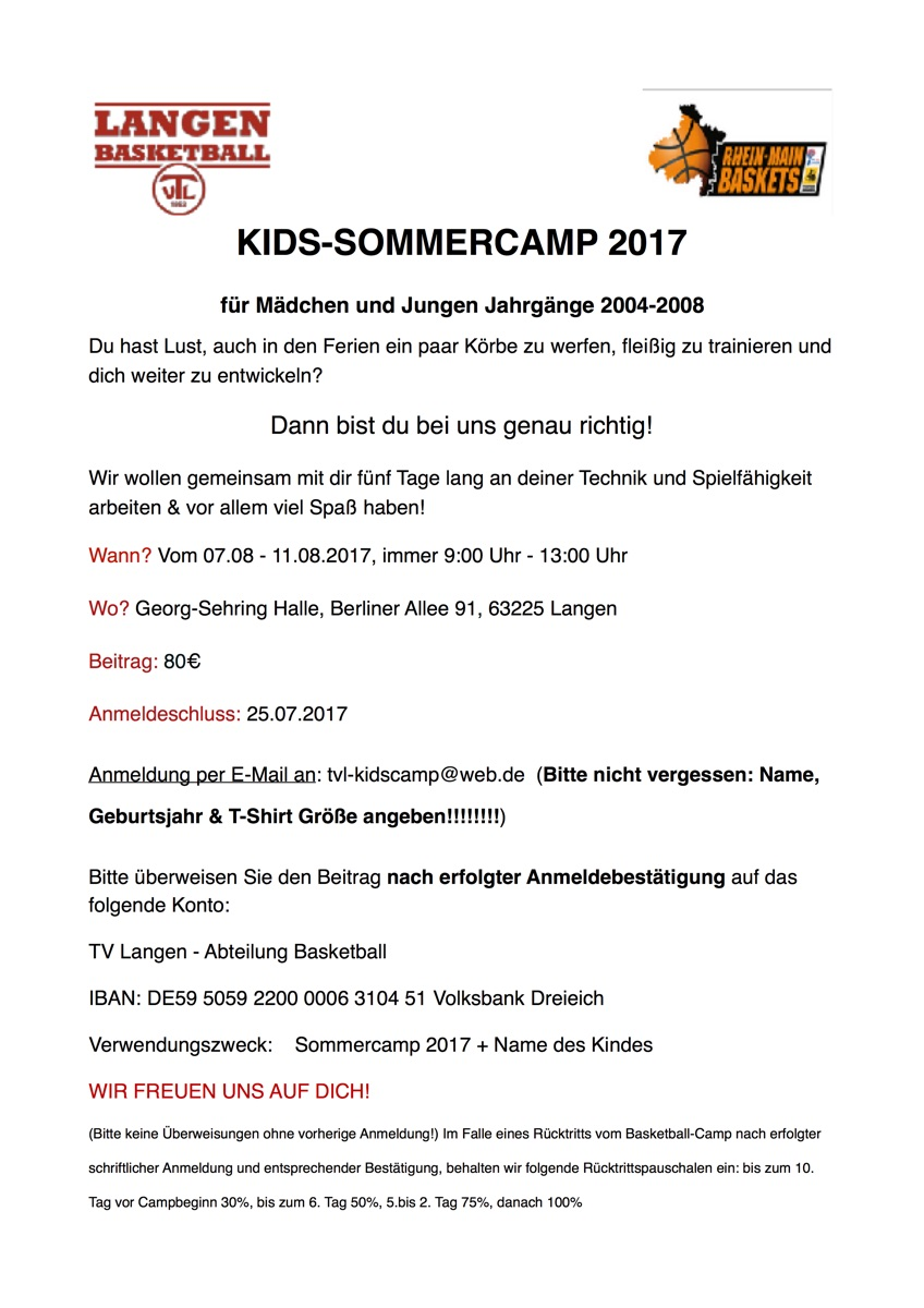 KIDS-SOMMERCAMP 2017