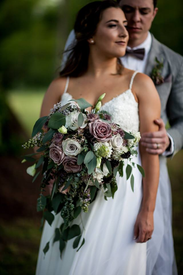Chattanooga Wedding Flowers | Dusty Lavender Cascading Bouquet | Lang Floral Designs | Tennessee