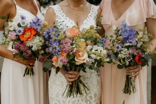 Wildflower Bouquets, Peach Poppy, Poppies, Chattanooga Wedding Flowers, Lang Floral Designs, Lindsey Lowe Photography, Tennessee RiverPlace