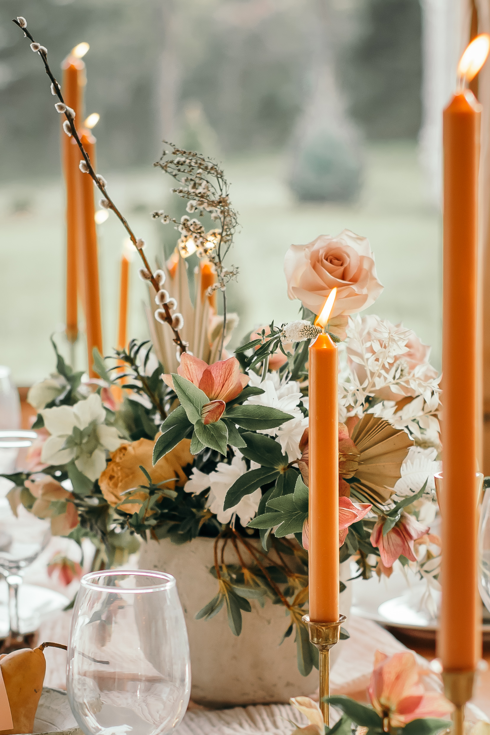 Earthy Wedding Decor, Lang Floral Designs, Chattanooga Wedding Florist