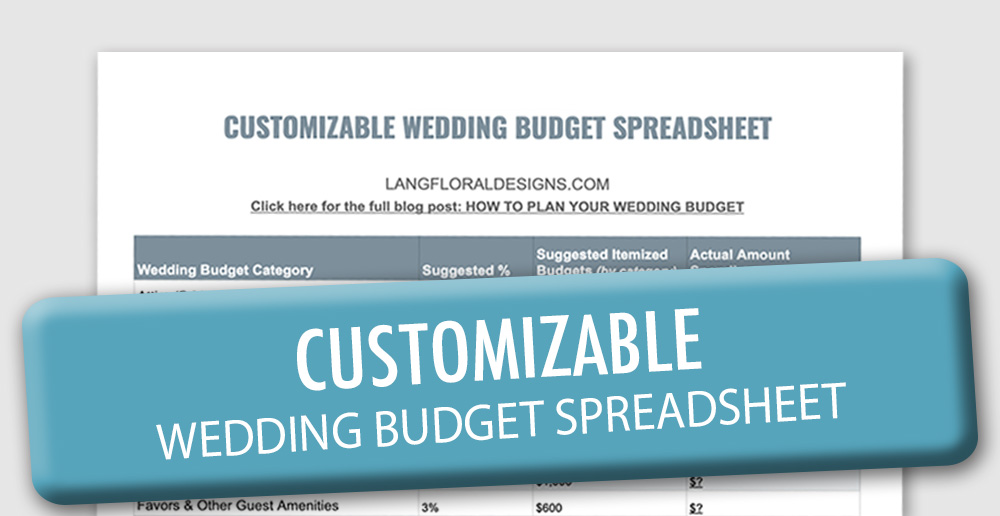 Wedding Flowers Average Cost, Wedding Budget Calculator, Lang Floral Designs, Chattanooga Wedding Florist