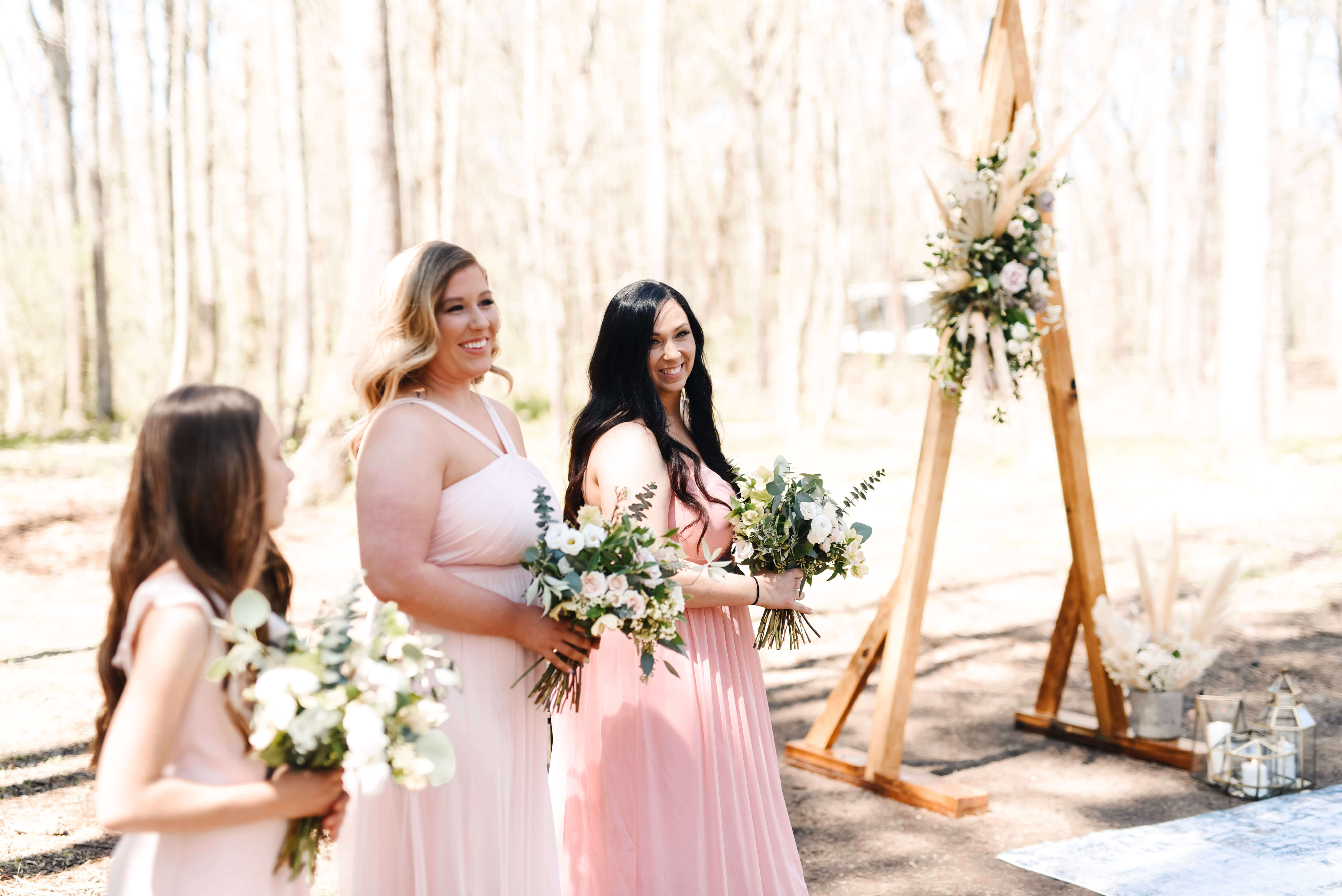 Blush and Plum Wedding, Wedding in the Woods, Triangle Arch, Lang Floral Designs, Chattanooga Wedding Florist, Chattanooga Day-of Coordinator, Chattanooga Wedding Planner