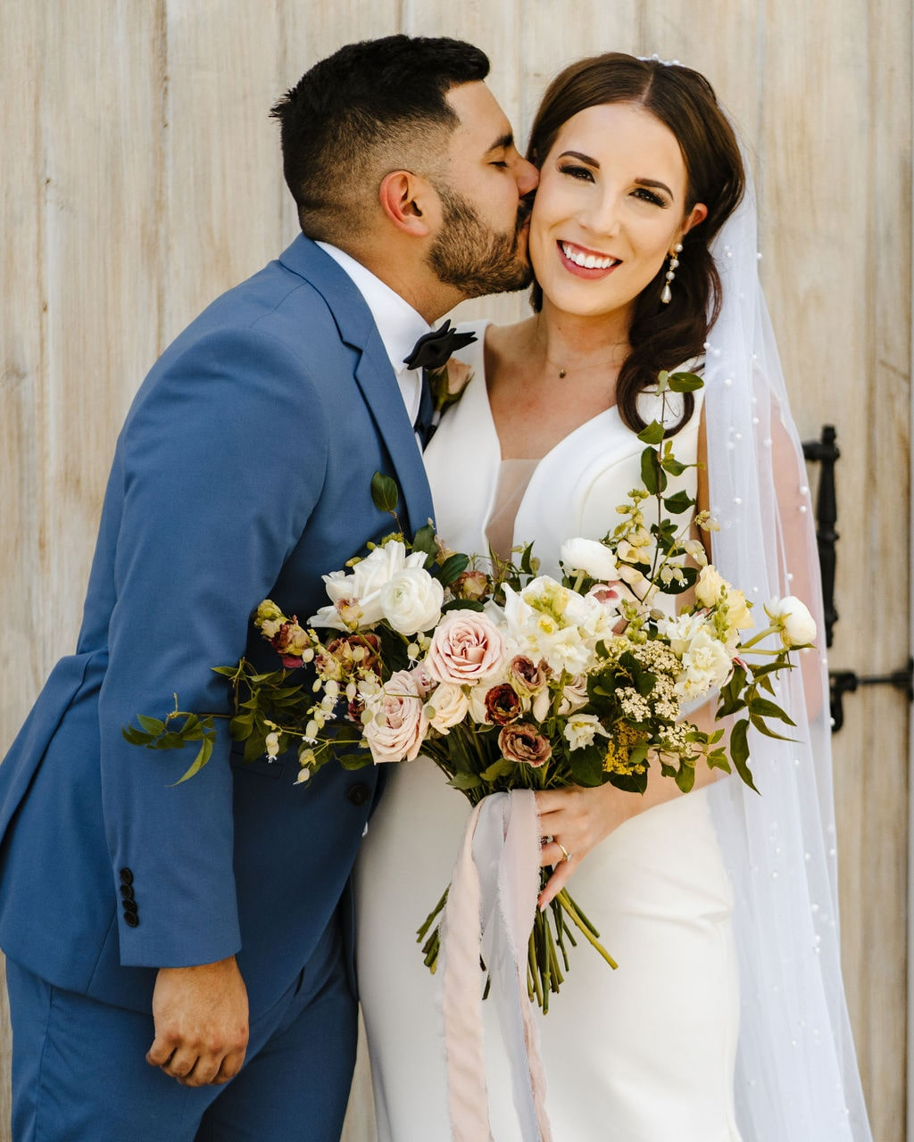 Chapel wedding, garden style wedding flowers, organic bouquets