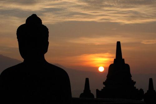 Sunrise d Borobudur