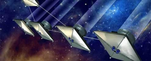 Ilustrasi pengamatan interferometri di masa depan dari ruang angkasa dalam misi, terrestrial planet finder. kredit : NASA
