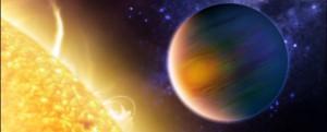 Ilustrasi exoplanet yang sedang transit. Kredit: NASA/Hubble