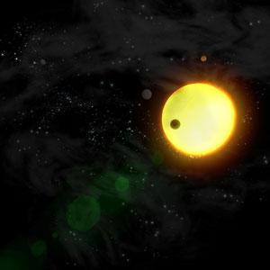 Lukisan planet disekeling bintang lain. Kredit : ESA/AOES Medialab