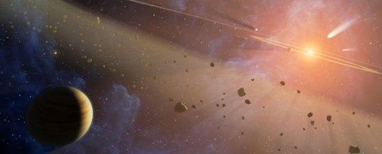 Ilustrasi Sabuk Asteroid. Kredit: NASA
