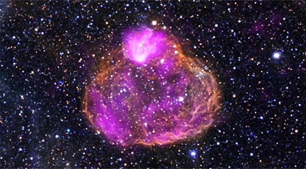 Gelembung super indah tapi mematikan. Kredit:  NASA/CXC/Univ of Michigan/A.E.Jaskot/NOAO/CTIO/MCELS