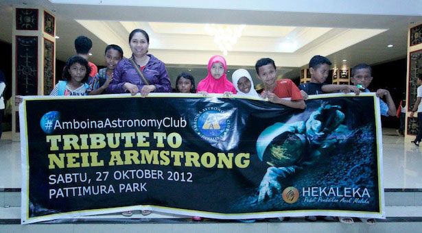 Tribute to Neil Armstrong. Star Party pertama di AMbon. Kredit : Hekaleka