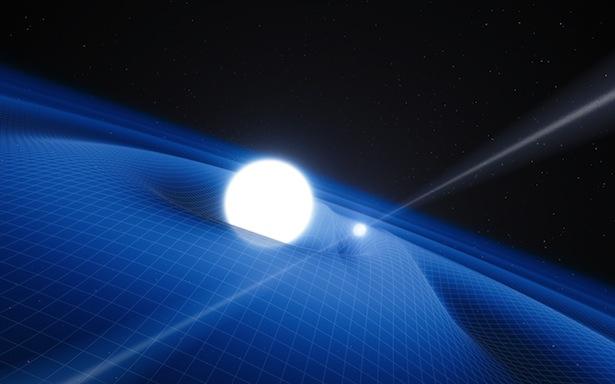 Ilustrasi Pulsar PSR J0348+0432 dan bintang katai putih pasangannya. Kredit: ESO/L. Calçada