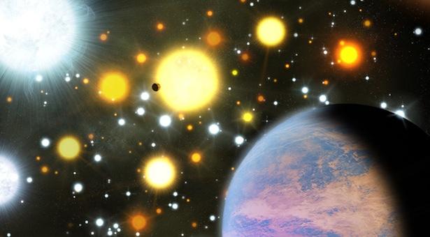 Ilustrasi planet yang transit di gugus terbuka NGC 6811. Kredit: CfA Harvard-Smithsonian