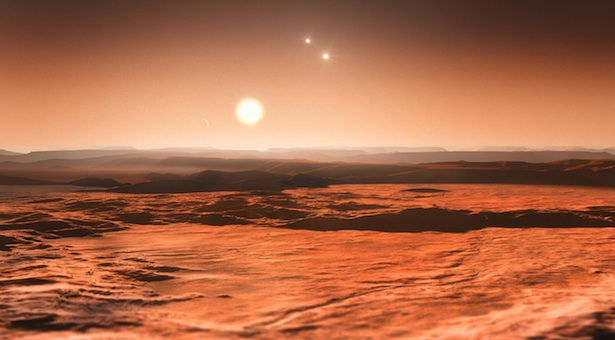 Ilustrasi Gliese 667C. Kredit: ESO
