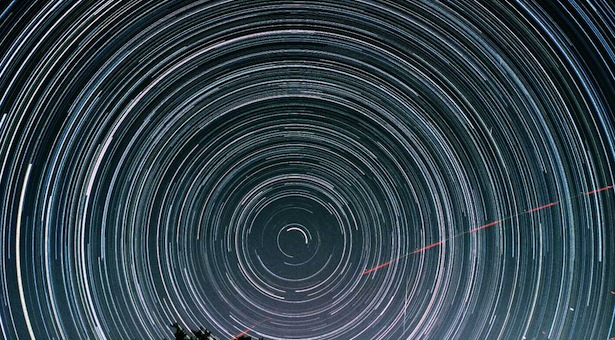 star trails. kredit: science blog