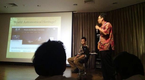 Emanuel Sungging mumpuni saat menyampaikan presentasinya. Kredit: Edwards Taufiqurrahman