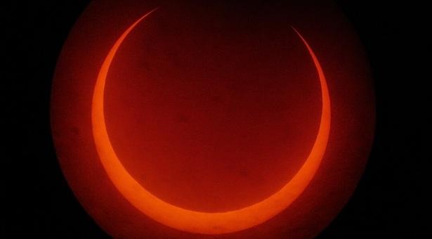 Gerhana Matahari Cincin 26 Januari 2009. Kredit: Muhammad Rayhan