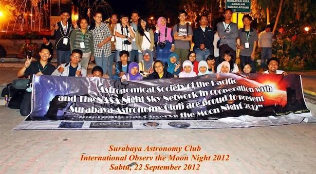 Foto bersama setelah pengamatan Bulan. Kredit: SAC