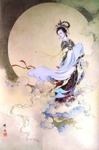 Chang'e sang Dewi Bulan. Kredit: NASA
