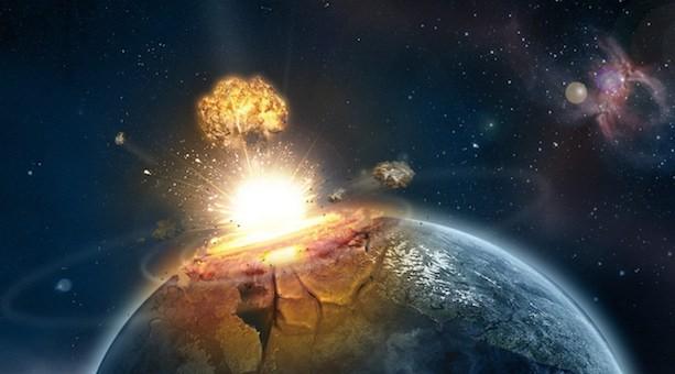 Ilustrasi tabrakan komet.