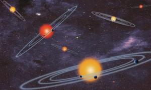 Sistem multi planet yang ditemukan Wahana Kepler. Kredit: NASA