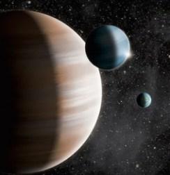 Ilustrasi planet katai gas. Kredit: J. Jauch
