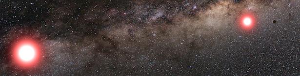 Ilustrasi OGLE-2013-BLG-0341L B b yang mengitari bintang ganda. Kredit: Cheongho Han, Chungbuk National University, Republic of Korea.