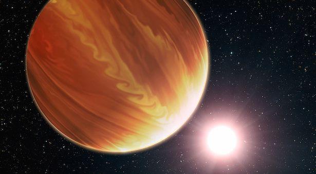 Ilustrasi planet Jupiter panas HD 209458b aka Osiris yang mengitari bintang induknya, Kredit: NASA, ESA, and G. Bacon (STScI)